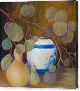 Eucalyptus And Vase Canvas Print