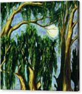 Eucalyptus Moon Canvas Print