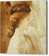 Eucharis  A Girl With A Basket Of Fruit Canvas Print