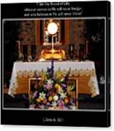 Eucharist I Am The Bread Of Life Canvas Print