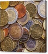 Euro Coins Canvas Print