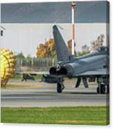Eurofighter Typhoon 2000 With Parachute Canvas Print