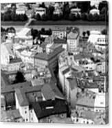 European Rooftops Canvas Print