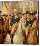 Evacuation Day And Washington's Triumphal Entry In New York City Canvas Print