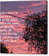 Evangelism Prayer Canvas Print