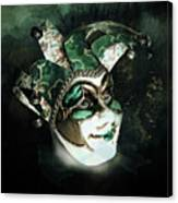Even With Her Mask, Her Eyes Give Her Away Canvas Print
