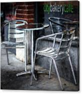 Evening At A Sidewalk Cafe Canvas Print