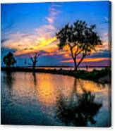 Evening At Riverwinds Canvas Print