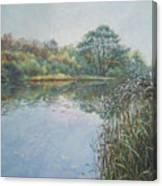 Evening At Southampton Common Lake Canvas Print