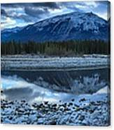 Evening At The Athabasca River Canvas Print