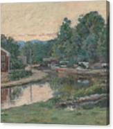 Evening At The Lock, Napanoch, New York 3 Canvas Print