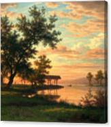 Evening Atmosphere By The Lakeside Canvas Print