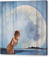 Evening Bath Canvas Print
