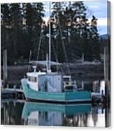 Evening Boat Canvas Print