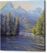 Evening Calm, Taggart Lake Canvas Print