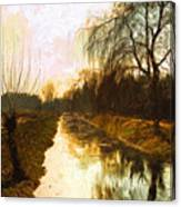 Evening Canal Canvas Print