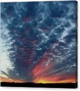 Evening Sky In Kansas Canvas Print
