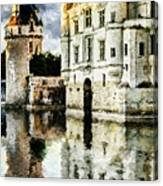 Evening Falls At The Castle Canvas Print