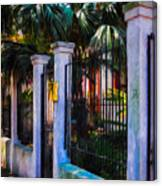 Evening Fence And Gate - Nola Canvas Print
