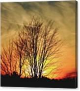 Evening Fire Canvas Print