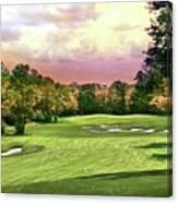 Evening Golf Course Scene Canvas Print