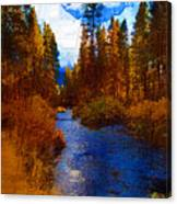Evening Hatch On The Metolius Painting Canvas Print