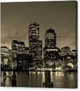 Evening In Boston Canvas Print