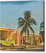 Evening In Cuba Canvas Print