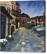 Evening In Greece  Canvas Print
