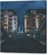 Evening In Hamburg Canvas Print