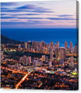 Evening In Honolulu Canvas Print