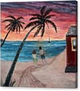 Evening In Paradise Canvas Print