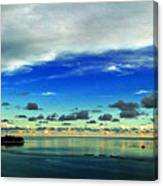 Evening In Paradise Panoramic Canvas Print