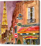 Evening In Paris Canvas Print