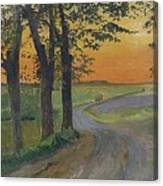 Evening In The Plain Canvas Print