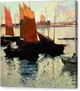 Evening Light At The Port Of Camaret Canvas Print