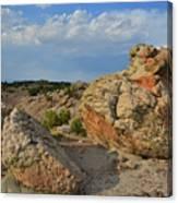 Evening Light On Boulders Of Bentonite Site Canvas Print