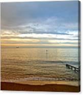 Evening Light On Shanklin Beach Canvas Print