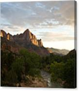 Evening Light On Watchman Canvas Print
