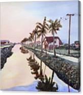 Evening Light Paramaribo Suriname Canvas Print