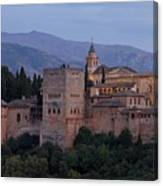 Evening Lights At The Alhambra Canvas Print