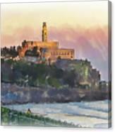 Evening Mood In Jaffa Canvas Print