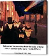 Evening On Karl Johan Street 1892 Canvas Print