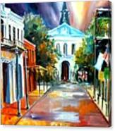 Evening On Orleans Street Canvas Print