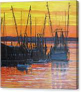 Evening On Shem Creek Canvas Print