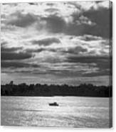Evening On South River - Bw Canvas Print