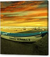 Evening On The Beach Canvas Print