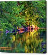 Evening On The Humber River - Paint Canvas Print