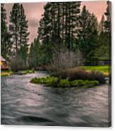 Evening On The Metolius Canvas Print