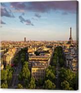 Evening Over Paris Canvas Print